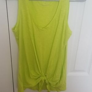 NWOT Express casual fit tank in lime green